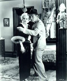 "Jean Harlow and Clark Gable in ""Hold Your Man"""