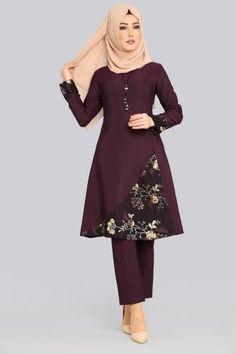 2019 Trend Tunik Modelleri - Güzel Sözler Hijab Fashion Summer, Pakistani Fashion Casual, Abaya Fashion, Women's Fashion Dresses, Skirt Fashion, Muslim Women Fashion, Frock For Women, Hijab Fashionista, Sleeves Designs For Dresses