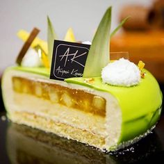 Inside Entremet by chef @kanakin_andrei #pastrychef #patisserie #pastrylove #pastrylife #yummy #instagood #insta #instafood #amazing #follower #fan #tutorial  #baking #paris #pic #foodgasm #partage #chocolate #chocolates #delicious #picture #delights #desserts #yummyyummy #food #pastryvideos