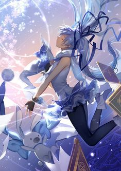 I thought it was Cirno but it's actually Miku >.<