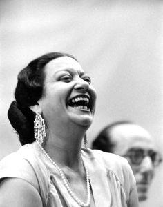 Umm Kulthum laughing