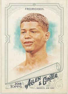 2018 Topps Allen & Ginter Sonny Fredrickson Boxer Card No 13 Baseball Cards For Sale, Trading Cards, Boxer, Collector Cards, Boxer Pants