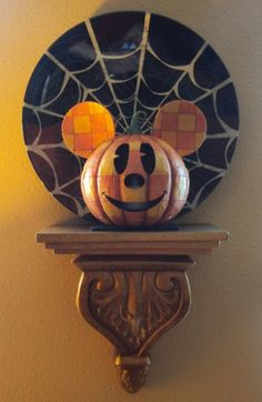 Jim Shore Disney Traditions Mickey Jack-O-Lanterns