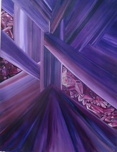 902dce530e10 Hand Painted Original Oil Amethyst Crystals by Gerife on Etsy, $1200.00  Grape Color, Amethyst