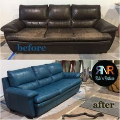 Berkeley Repertory Theatre uses Turquoise Rub 'n Restore® for help with their latest set. Paint Leather Couch, Leather Couch Repair, Faux Leather Couch, Painting Leather, Leather Sectional, Leather Furniture, Decoupage Furniture, Furniture Care, Furniture Repair
