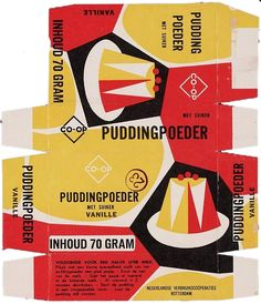 """We don't have any vintage Co-op Christmas food packaging in our archive -yet- but we 💕 this pudding packaging which comes via a wealth of cracking food packaging. Their website is chocca with beautifully sourced & curated design & typography. Vintage Packaging, Print Packaging, Vintage Labels, Packaging Design, Food Packaging, Vintage Food, Cereal Packaging, Retro Food, Vintage Ephemera"