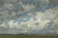 Jan Voerman Sr.  Clouds over Hattem