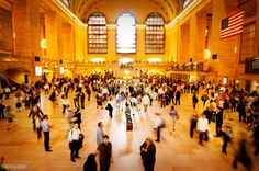 Grand Central Station in NYC - promo shots from our Hartmann Luggage review!