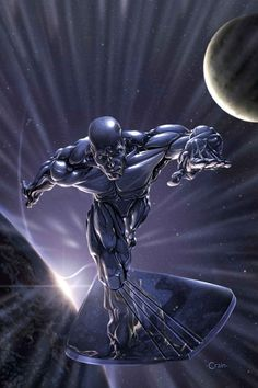 SILVER SURFER by Comic Artist Clayton Crain #Illustration #Comics #Drawing