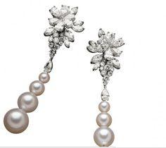 Viren Bhagat. Diamond & pearl earrings...♡