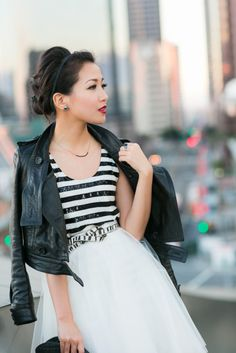 Wendy Nguyen of blog Wendy's Lookbook. Pick Me Up :: Striped sequin.