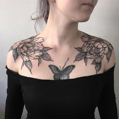 [ Tattoo Butterfly Chest Ink Trendy Ideas Best Picture For shoulder Tattoo For Your Taste You are looking … Cool Chest Tattoos, Chest Piece Tattoos, Chest Tattoos For Women, Pieces Tattoo, Chest Neck Tattoo, Tattoo Girls, Girl Tattoos, Body Art Tattoos, Star Tattoos