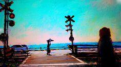 Art picture by Seizi.N 湘南の踏切で稲村ケ崎駅のイメージに、もちろんワンちゃんも入れてドラマ風にお絵描きしました。  Stay With Me (Sam Smith) - Sam Tsui & Kurt Schneider Cover http://youtu.be/L_IFCBEebPs