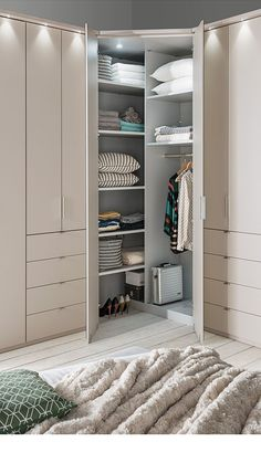Top 13 Storage Room Door Concepts to Try to Make Your Bed Room Clean as well as Sizable Wardrobe Interior Design, Wardrobe Door Designs, Bedroom Closet Design, Master Bedroom Closet, Bedroom Furniture Design, Closet Designs, Bathroom Closet, Corner Wardrobe Closet, Bedroom Built In Wardrobe