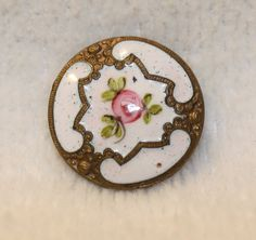 Antique Vintage Buttons Porcelain  Hand Painted by SuzBalla, $4.00
