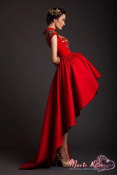 Barato 2014 de Moda de Nova Marie Lise Vestidos Frente curto tempo de volta apliques vermelho do partido vestido de noite vestidos de baile elegante, Compro Qualidade Vestidos de Noite diretamente de fornecedores da China:                                             1) Height____________ (inch / cm