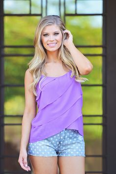 Chasing Waterfalls Tank - Violet from Closet Candy Boutique