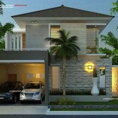 Model Rumah Hook 2 Lantai & Roof Garden
