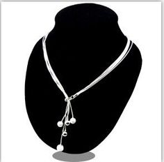 VALEN BELA Big promotion Tai Chi five Beads Silver Plated Necklaces Pendants Chain Bijuterias 2016 Fashion Women XL1043