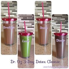 Dr. Oz 3 Day Detox Cleanse Review... I so want to try this! next time I have a spare 3 days home, i will!