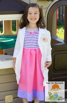 Doc McStuffins Dress and Doctor Jacket by madeformermaids on Etsy, $66.00