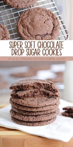 No rolling and no fuss, these super soft chocolate sugar cookies are easy as can be and so incredibly delicious (as in, I dare you to eat just one)! Bonus: cook them a few minutes longer if thin and crispy cookies are more your style.