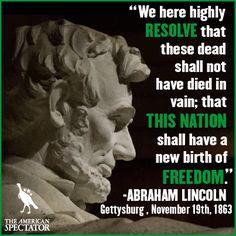 Abraham Lincoln - Gettysburg, Pennsylvania November 19, 1863