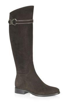 Pleasance Brown Flat Women Boots