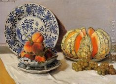 Still Life With Melon - Claude Oscar Monet - Oil Painting Reproductions