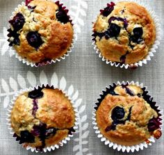 Low Fat Bluberry and Banana Muffins