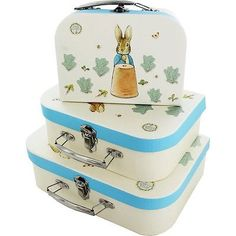 Peter Rabbit Storage Set Of 3 Suitcases Beatrix Potter