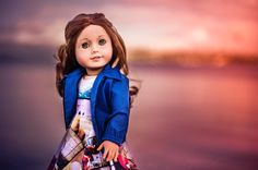 Ginny out on the waterfront. It was such a lovely winter evening with all of the seagulls out. I adore this picture of her by the water. What do you think? Doesn't she look beautiful? Ginny in #littlegloriana