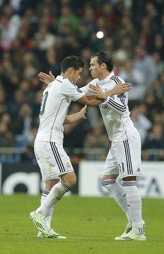 James Rodriguez and Gareth Bale, Real Madris
