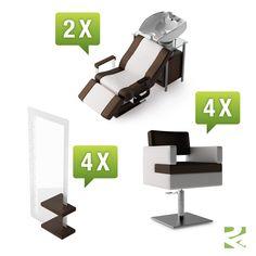 Friseureinrichtung Ginza Set 2 - günstig bei Friseurzubehör24.de // Sie interessieren sich für dieses Produkt