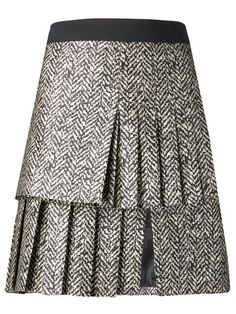 Shop Emanuel Ungaro pleat jacquard skirt in Tootsies from the world's best independent boutiques at farfetch.com. Over 1000 designers from 60 boutiques in one website.