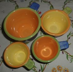 Pfaltzgraff PISTOULET Measuring Cups 1/4, 1/3, 1/2 & 1 Cup (Set of 4) ~~~ (Just have to get - for display even if you aren't going to use them!)