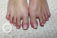 french pedicure. simple nails