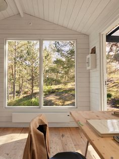 Cottage Living, Cottage Homes, Small Cottages, Archipelago, Home Office, House Ideas, Windows, Curtains, Interior Design