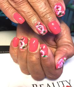 Nails Pink mit One Stroke