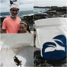 Collect sea shells or crab with Sea Bags made from recycled sails in Maine.