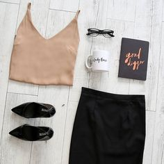 J. Crew Silk Cami Nude colored silk Cami from J. Crew. Brand new with tags. First image is not mine and not exact Cami, simply styling idea. J. Crew Tops Camisoles