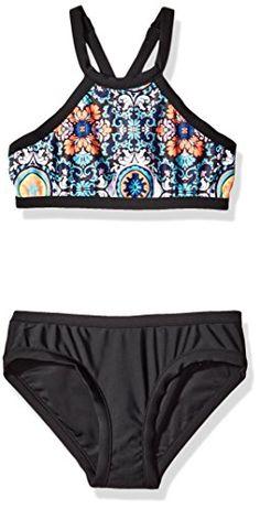 1f6efa59805 Girls' 3 Tier Crochet Tankini Swimsuit | Swimwear For Teens ...