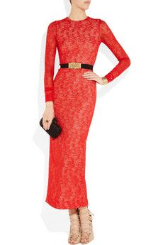 ALESSANDRA RICH  Stretch-lace gown