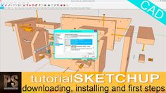 Woodworking Program SketchUp is one of the most popular CAD programs. It is very easy to use and the free version has almost all an amateur Woodworker can need. Woodworking Courses, Woodworking Tutorials, Woodworking School, Woodworking Skills, Learn Woodworking, Woodworking Furniture, Woodworking Plans, Sketchup Woodworking, Cad Programs