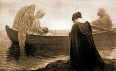 To the Unknown Land, Edmund Blair Leighton  We never know where God will take us. But Angels are there to watch over us.