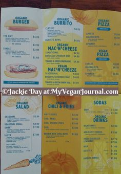 Curious to know what you can get at Amy's Drive Thru? Everything can be made vegan! Hurray!! Here's the menu! And a review! #MyVeganJournal