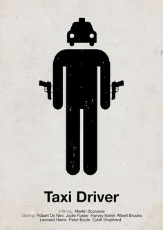Viktor Hertz Pictogram movie posters Taxi Driver