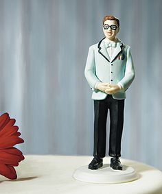 'Geek' Groom Mix and Match Cake Topper, this is perfect because my boyfriend is so smart and nerdy