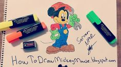 Easy Mickey Mouse Drawings and Sketches Easy Drawings, Pencil Drawings, Mickey Mouse Drawings, Step By Step Drawing, Drawing Techniques, Full Body, Christmas Decorations, Sketches, Tekenen