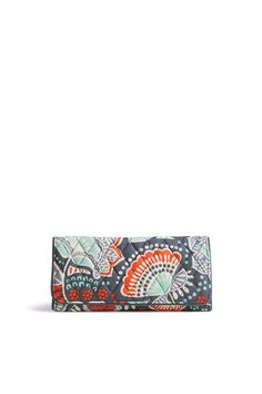 """Don't let its slim silhouette fool you. Inside this timeless trifold design, there's everything you need (and want) in a wallet: 11 card slots, three bill pockets, a photo window and an ID window. It's a chic complement to any of our handbag or tote styles.    Dimensions 8 ½"""" w x 4"""" h    Trifold Wallet Floral by Vera Bradley. Bags - Wallets & Wristlets Omaha, Nebraska"""